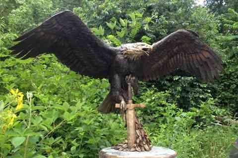 Large Garden Large Bronze Animal Eagle Statue For Sale