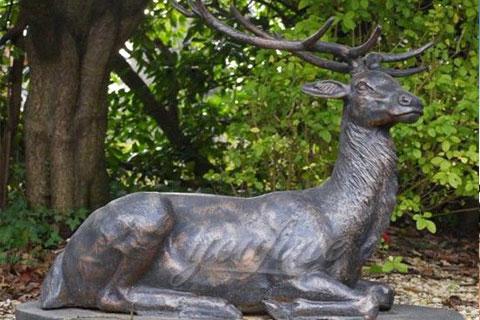 2020Garden decorative antique bronze Deer statue Animal Sculpture
