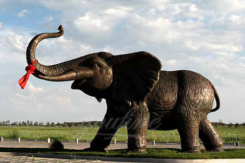 Brass sculpture outdoor elephant statues for decor for sale