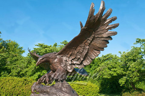 Cast Brass Bronze Eagles Sculptures For Sale