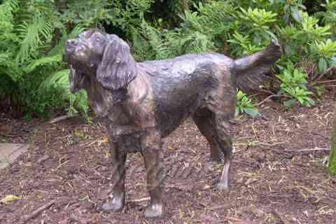 Custom bronze dog sculpture metal sculpture yard art for sale