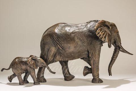 Customized life size bronze Animal elephant sculpture For Sale