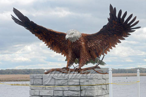 Exquisite Bronze Animal Eagle Statue for sale
