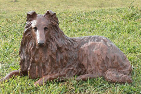 Famous bronze animal sculpture metal dog statues for garden