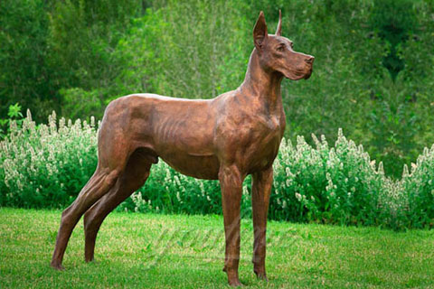 Famous large dog statues bronze animal sculptures for sale