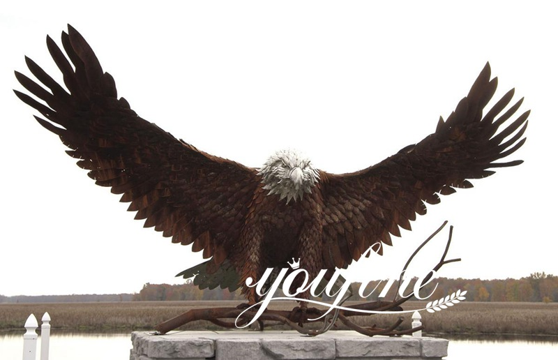 Front yard landscaping statues Exquisite Bronze Animal Eagle Statue for sale