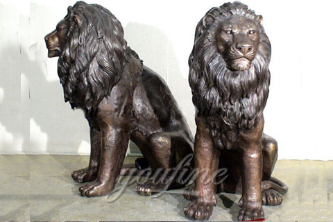 Garden Decoration Casting Bronze Lion Statue for sale