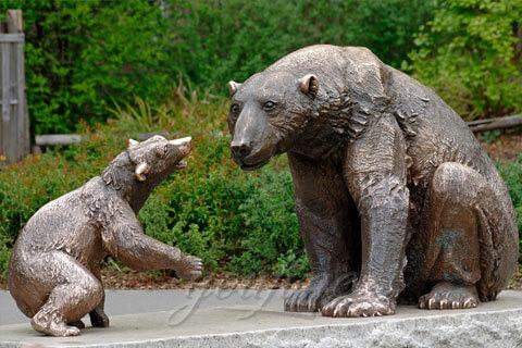 Garden decorative animal sculpture antique bronze bear statues for sale