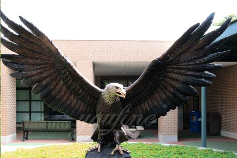 Outdoor Garden eagle bronze animal sculptures for sale