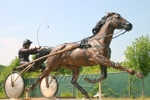 High Quality Large Outdoor Bronze Riding Horse Sculpture for sale BHS-003 Details