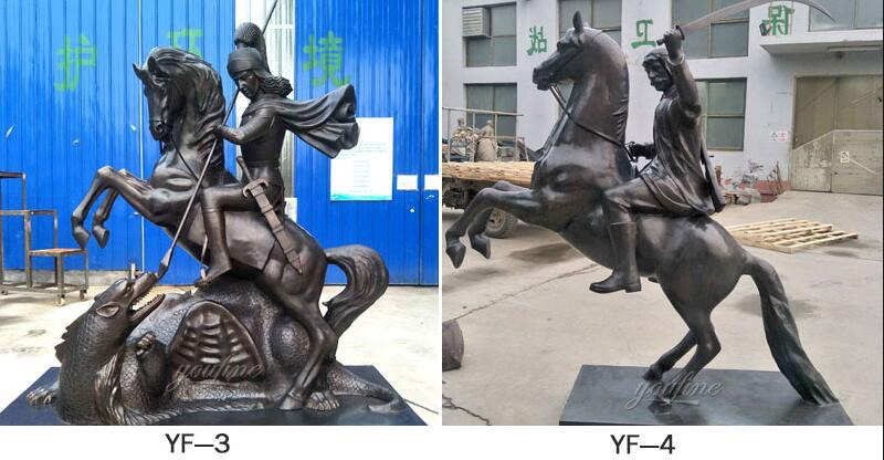 High Quality Large Outdoor Bronze Riding Horse Sculpture for sale BHS-003 More Designs 1