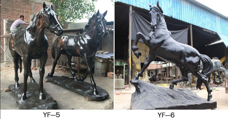 High Quality Large Outdoor Bronze Riding Horse Sculpture for sale BHS-003 More Designs