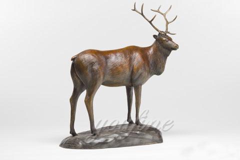 Indoor Decorative wildlife bronze deer sculpture wholesales