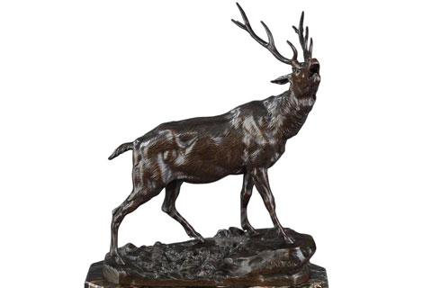 Indoor Famous Life size animal statue elk sculpture for home decor