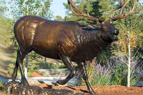 Large Outdoor Animal Sculpture Bronze Elk Statue for Sale BOK-225