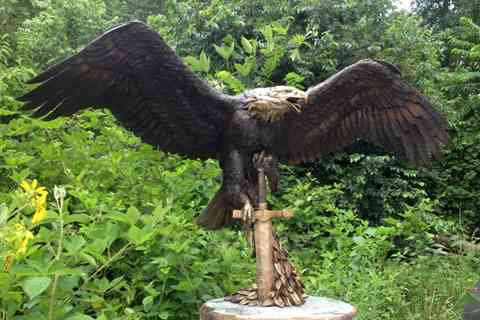 Large garden large bronze animal eagle statue for sale
