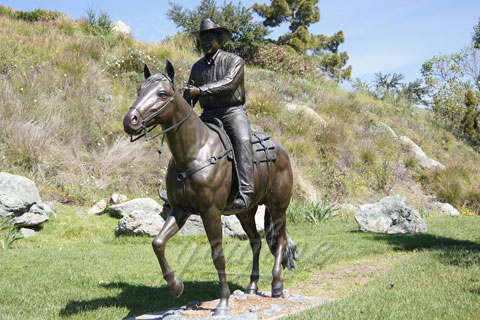 Life Size Bronze riding horse Statues for sale