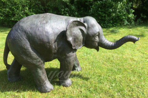 Life size elephant stuffed animal sculpture for sale