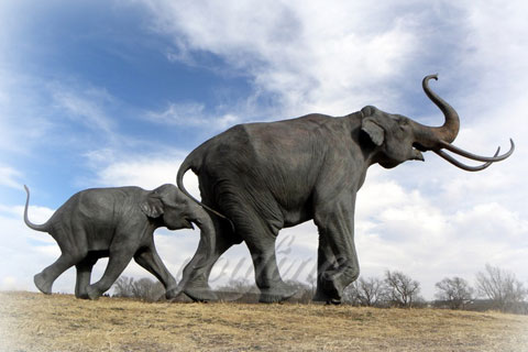 Outdoor Playground Bronze Animal Garden Elephant Statues for Sale