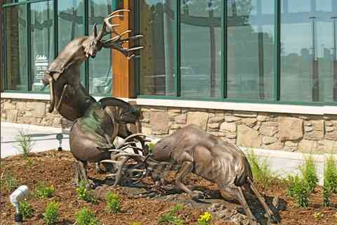 Outdoor animal sculpture life size deer statues for sale