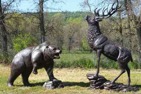 Outdoor garden casting bronze statue animal sculpture for hot selling