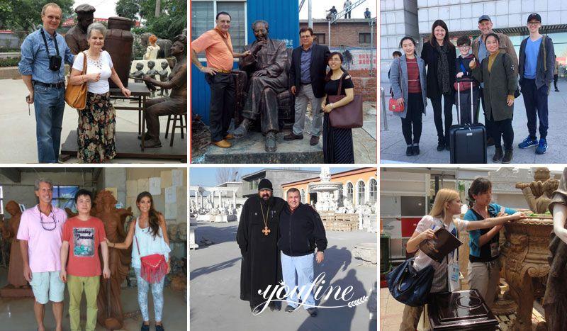 bronze animals sculpture client visit in YouFine