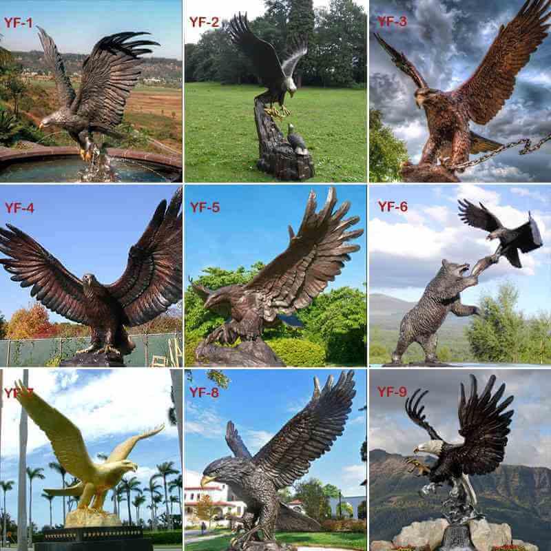 bronze eagle statue for sale