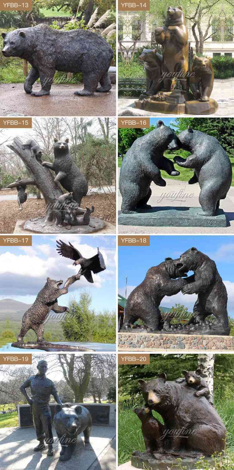 bronze bear sculptures