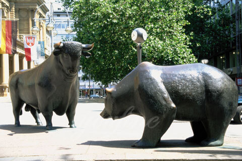 Cheap and fine outdoor decorative bronze animal brass copper bull