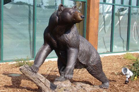 Europe style bronze animal cast brass Wild bear statue for garden