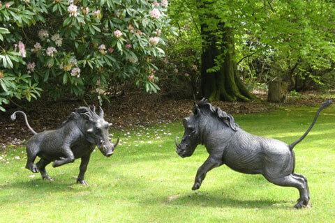 Garden Antique Large Bronze Animal Wild Boar Statue for park