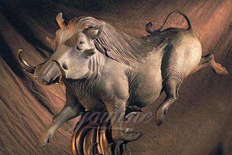 Garden Antique Large Bronze Animal Wild Boar Statue for sale