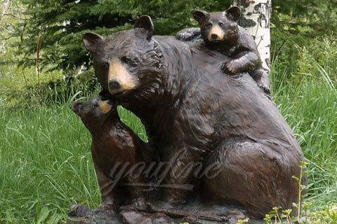 Garden casting Bronze Animal Bear Sculpture for sale