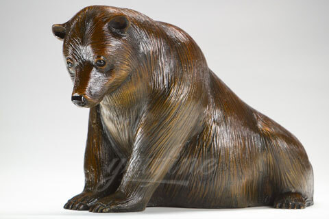 Large Bear Bronze Animal Statue Sculpture for home decoration on sale