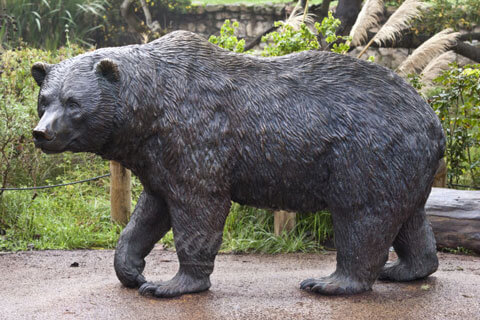 Large Outdoor Decorative wildlife bronze black bear lawn ornaments sculpture
