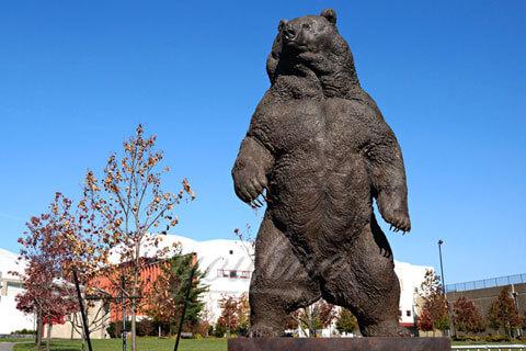 Large Park Decorative Bronze Animal Bear Statue for sale