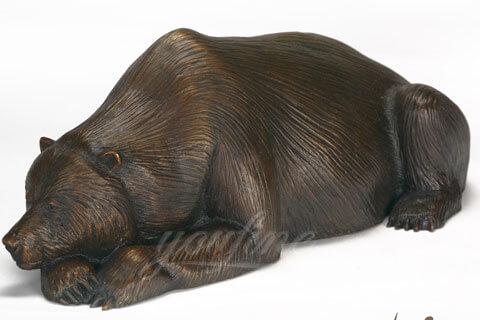 Outdoor Bronze Animal Sculpture bear statue for sale