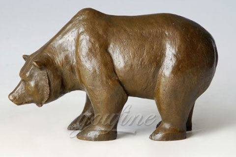 life size large bronze animal bear sculpture for zoo decoration