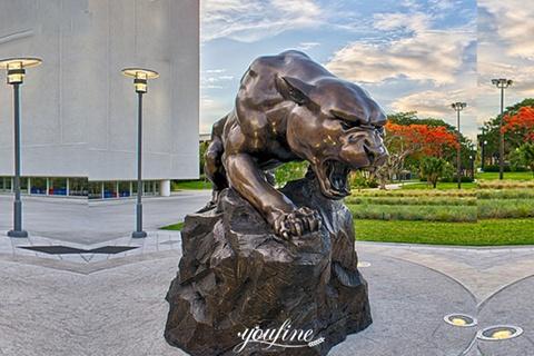 Garden Decoration Bronze Animal Sculpture Leopard Bronze Sculpture for Sale BOKK-653
