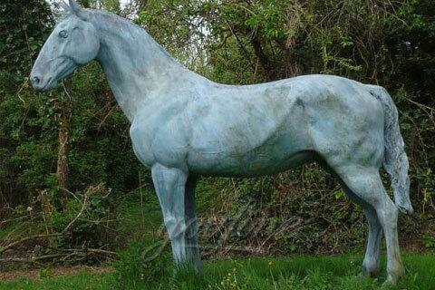 Garden decoration antique bronze casting standing horse statue for sale