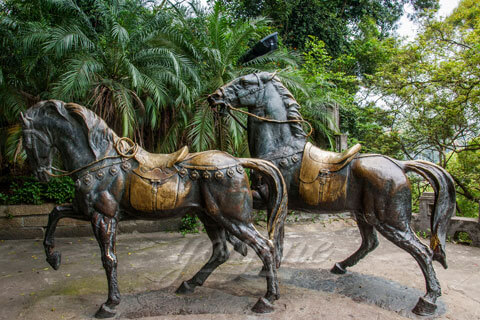 Costs of life size standing brass horse sculptures for garden