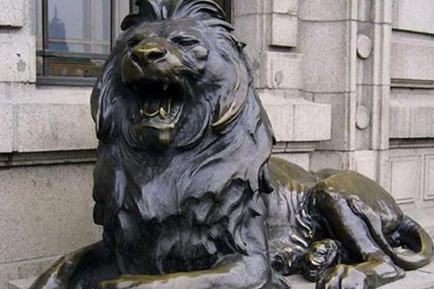 Life Size Bronze Metal Roaring Lion Statues for Garden Decor Supplier BHL-02