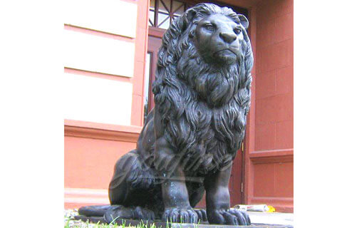 Outdoor metal crafts cast antique bronze lion yard sculpture to buy