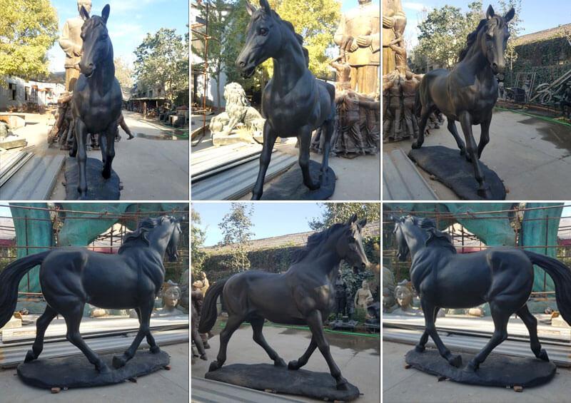bronze black horse