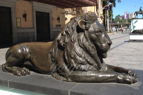 Life size bronze casting lion garden statues for sale