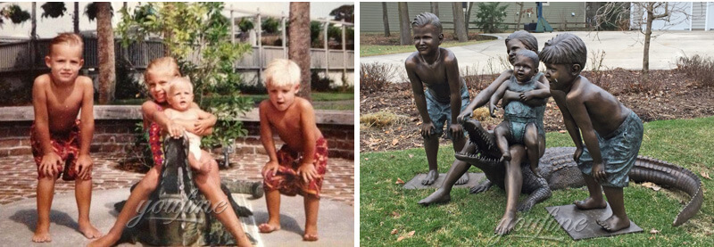 Customized bronze statues from a photo