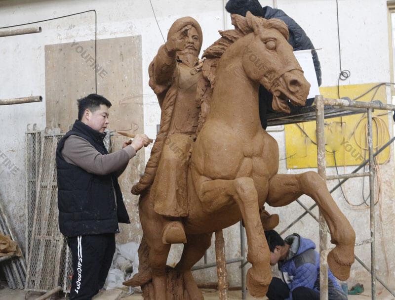 Horse clay model masters