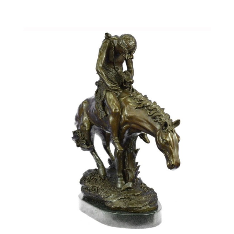 Bronze Horse Statues Aldo Vitaleh Indian On Horse A Tribute To Remington
