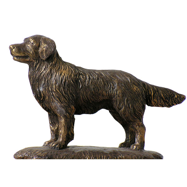 Life size outdoor bronze dog statues for home lawn ornaments for sale