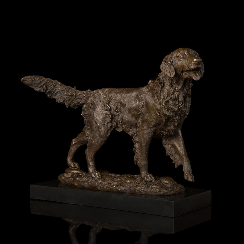 Life size casting bronze dog statues for home lawn ornaments for sale